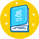 adress, agenda, book, contact, notebook, phone, telephone icon