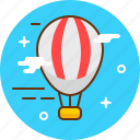 airbaloon, baloon, cloud, fly, romantic, travel icon