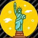 america, liberty, new york, ny, statue, usa icon
