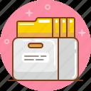 archive, file, find, folder, information, save icon