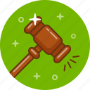 auction, hammer, judge, justice, trade icon
