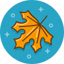 autumn, fall, leaf, november, october, september, yellow leaf icon