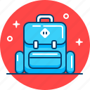 backpack, camping, hiking, journey, rucksack, travel icon