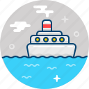 boat, ocean, sail, sea, ship, travel, voyage icon
