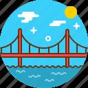 bridge, golden gate, river, san francisco, sea icon
