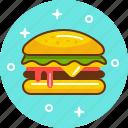 burger, fast food, food, hamburger, junk, mcdonald's icon