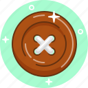 button, clothes, repair, sew, snap icon