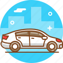 automobile, car, drive, transport, vehicle, white car icon