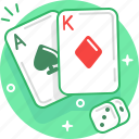ace, casino, dice, game, poker, roulette icon