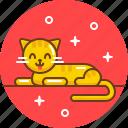 animal, cat, meow, pet, red cat icon