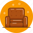 armchair, chair, comfortable, furniture, relax, sit icon