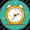 alarm clock, clock, morning, time, wake icon
