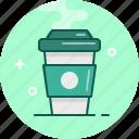 capuccino, coffee, espresso, latte, mug, takeaway icon