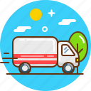 delivery, free delivery, lorry, shipping, stock, transport icon