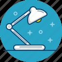 desk, desklamp, lamp, study, table, work icon