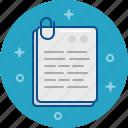 clip, document, file, paper icon