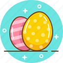 chocolate egg, easter, easter bunny, egg icon