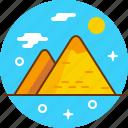 desert, egypt, pharaon, pyramide, travel icon