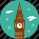 big ben, britain, clock, england, london, uk icon