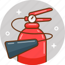 alert, extinguisher, fire, fire extinguisher, fireman icon