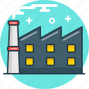 factory, industry, plant, pollution, production icon