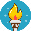 ancient greece, fire, greek, olympic games, olympics, torch icon