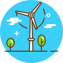 eco, electricity, energy, green energy, power, turbine, wind will icon
