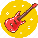 guitar, music, musical instrument, play, rock icon