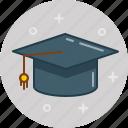 college, graduate, hat, study, university icon