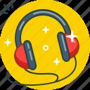 audio, headphones, listen, music, track icon