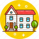 cottage, home, house, live, mansion icon