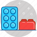 brick, child, constructor, game, lego, play icon