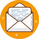 email, letter, message, post, send icon