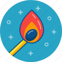 cigarette, fire, light, match, smoke icon