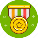 award, competition, golden, medal, prize, victory, win icon