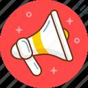 loud, megaphone, public, sound, speaker, voice icon