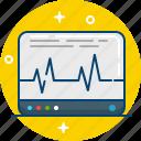 cardiogram, chart, graph, monitor, scheme, screen icon
