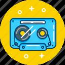 audio, cassette, music, tape, tape recorder icon