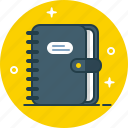 agenda, contact, notebook, notepad icon