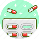 capsule, drug, medicine, pill, tablet, treatment icon