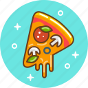 cheese, fast food, food, italian, pizza, snack icon