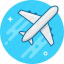 air, air jet, fly, pilot, plane, travel icon