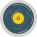 cd, disc, music, plate, record, retro icon