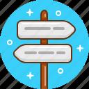 arrow, destination, direction, pointer, route, way icon