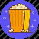 blockbuster, cinema, film, movie, popcorn icon