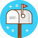 letter, mail, mailbox, parcel, post, receive, send icon
