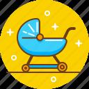 baby, child, mother, nurse, nursery, pram icon