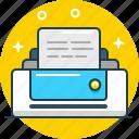 design, document, paper, print, printer, type icon