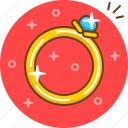 engagement, jewelry, marriage, ring, wedding icon
