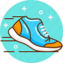 jog, jogging, run, snickers, sport, trainers icon